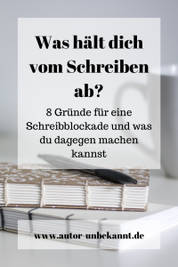 Read more about the article Was hält dich vom Schreiben ab?
